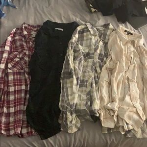 4 Flannel Shirts